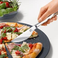 Pizzamessen, set van 6 - Snijdt moeiteloos en schoon door de bodem heen. En past bij elk bestek. Kwaliteit made in Germany.