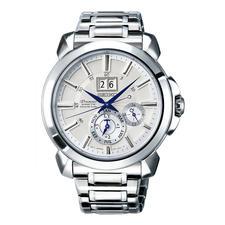 Seiko Premier Kinetic Perpetual herenhorloge SNP159P1 - De energiebeparende Auto Relay-functie maakt een horlogeopwinder, handmatig opwinden en opnieuw instellen overbodig.