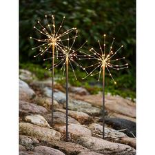 Led-sterretjesverlichting, set van 9 - Deze 'sterretjes' branden niet op dankzij de fonkelende ledlichtjes die zo fijn zijn als dauwdruppels.