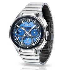 Bulova Curv-horloge - De Bulova Curv: 's werelds eerste chronograaf met gebogen uurwerk. Winnaar van de Inhorgenta Award 2019*.