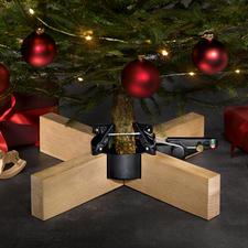 Kerstboomstandaard 'Kopenhagen' - Basic elegant, stabiel met comfortabel pedaal: de kerstboomstandaard met bekroond design.