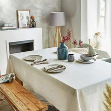 Tafellinnen in linnen-look - Uniek: chique linnen-look – maar volledig onderhoudsvrij en aantrekkelijk geprijsd.
