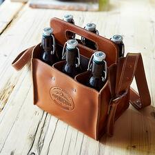 Buffelleren flessentas - Trendy flessentas van stevig buffelleer. Handmade in Germany.