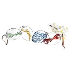 Glazen paaseieren, set van 4 - Ultieme glasblaaskunst voor uw paasboeket. Elk artikel is uniek.