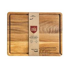 Inclusief snijplank van massief, geolied eikenhout ter waarde van €48,-