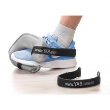 Wanneer u de apart te bestellen YAB.Belt aan uw sportschoenen vastmaakt, kunt u met de gewichten ook heel goed op een intensieve manier uw been-, bil- en buikspieren trainen.