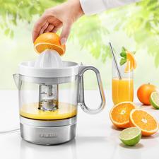 Elektrische citruspers CP 3535 - 40W sterk. Met XL-sapreservoir. Voor een zeer aantrekkelijke prijs.