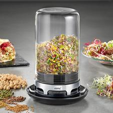 Gefu kiemglas - Knapperig, gezond en lekker: malse kiemgroenten uit de eigen keukentuin.