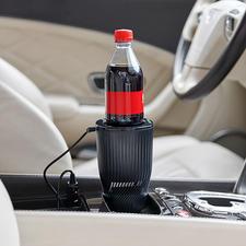 Blikjes-/flessenkoeler voor in de auto - Nu ook onderweg genieten van perfect gekoelde drankjes.