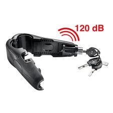 Met ingebouwde trillingsensor: pogingen om uw tweewieler weg te dragen of het slot open te breken worden direct afgestraft met een luide alarmtoon.