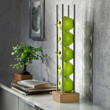 Fruitstandaard - Modern hout-rvs-design bewaart en presenteert het fruit luchtig en decoratief tegelijk.