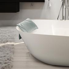 BadkussenLOFT - Veel eleganter en comfortabeler: wasbaar comfort-nekkussen voor de badkuip.