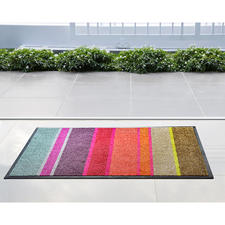 Platte designmat - Elegant als een fijn vloerkleed, maar heel effectief tegen stof, modder en vuil.