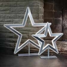 Led-ster - Luxueus uitgevoerde ster met verlichting. Traploos te dimmen. Met metallic-lak. Van Villeroy & Boch.