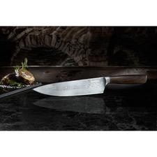 BökerCore damast-koksmes - Eeuwenoude damast-smeedkunst met het hightech-staal van nu. Een meesterwerk en een aanschaf voor het leven.