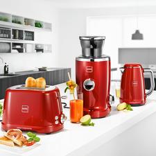 Novisjuicer, waterkoker of toaster IconicKTC1 - Bekroonde ontbijtserie in topkwaliteit van Novis, Zwitserland. Iconisch design. Zeer solide uitvoering. Technische perfectie.
