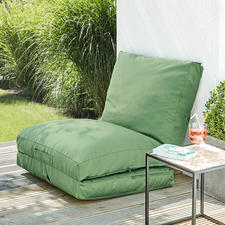 Klap een deel omhoog en zet het tegen een muur of balkonrand– zo creëert u snel een comfortabele zitplek.