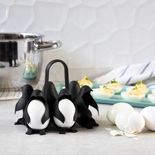 Egguins-eierhouder - Deze eierhouder met een schattig pinguïnontwerp is origineel en praktisch. Met handvat, om tot wel zes eieren tegelijkertijd mee te koken en serveren.