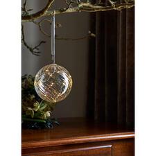 Glazen bal met micro-leds - Een fijne magische licht, gevangen in getint glas.