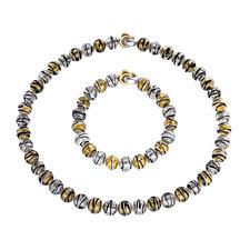 Collier of Bracelet van Muranoglaskralen - Venetiaanse pracht: glanzend goud en zilver, ingesloten in luxueuze kralen van Muranoglas.