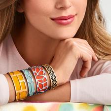 Les Georgettes armband - Deze armbanden van Altesse, Frankrijk, zijn gemakkelijk aan te passen aan uw outfit.