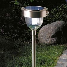 Intelligente lamp op zonne-energie - Hypermoderne ledtechniek met 2 lichtsterkten, ingebouwde bewegings- en schemersensor.