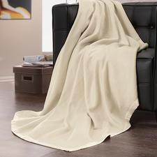 Fleecedeken van zijde - Heerlijk zacht en licht als fleece – maar van pure zijde. Een weldaad voor de huid.
