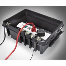 5 buigzame silicone inlays dichten de inlaat van de kabels en de 4 uitlaten op een veilige manier af.