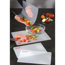 Flexibele snijplanken, set van 4 stuks - Zorgt dat alles wat u gesneden heeft zonder morsen in schaal, pan of schotel belandt.