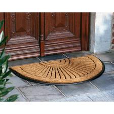Kokosvlakkenmat - Het dikke, echte kokosreliëf op slipvast zwaar rubber maakt de vuilste zolen schoon
