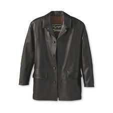Elandleren jack - Tijdloos mooie jas van zeldzaam elandleer. Een bijzonder zacht, uniek exemplaar.