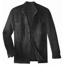 Overhemdjasje van rendierkalfsleer - Een degelijk leren jasje– zo licht als een overhemd. Weegt slechts 650gram.