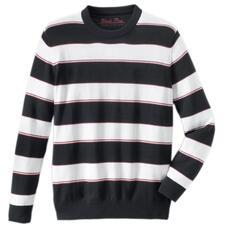 Pima-trui 'Maritime Stripes' - Licht, luchtig en streelzacht op de blote huid: trui van zeldzaam Pima-Cotton.
