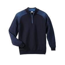 Stereo-System®-pullover - Zijn geheim: van buiten fijnste merinoswol, van binnen zuivere katoen.