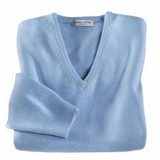 V-hals pullover, blauw