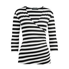 Betoverend Wikkelshirt - Een betoverend shirt. Alleen het juiste in zwart en wit.