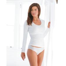 wit, Lange-mouwen-shirt