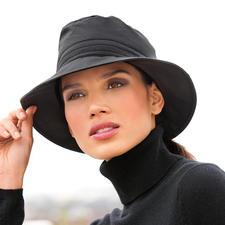 Katoenen hoed voor alle weersomstandigheden - Zuiver biologisch katoen. Weerbestendig als een functionele stof. Warm. Wind- en waterafstotend. Ademend.