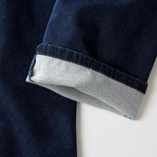 Binnenin is de jersey zacht geruwd, en daardoor supersoft en soepel