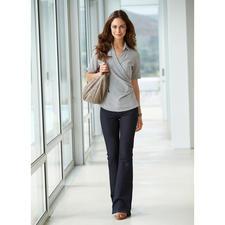 van Laack wikkelblouse van stretch-zijde - De betere zijden blouse is elastisch, de betere wikkelblouse blijft goed zitten.