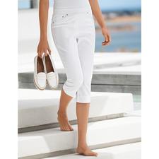 Raphaela by Brax comfortabele capri-jegging, wit - Eindelijk: een comfortabele jegging die men ook bij korte bovenstukken kan dragen.