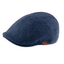 Kangol® pet van denim, indigo - Modieus smal model. Luchtig breisel. Casual denim-look. De pet van de Engelse hoedenmaker Kangol®, sinds 1938.