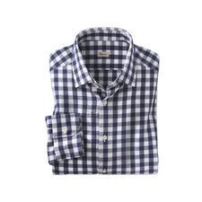 Ingram geruit seersucker- overhemd - Luchtig seersuckerweefsel. Klassiek ruitmotief. Maar zeker niet te sportief. Van Ingram.