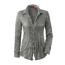 Strijkvrije blouse van crashzijde - Dit ruimtebesparende lichtgewicht gaat moeiteloos mee in elke reiskoffer. Weegt slechts 86 gram.