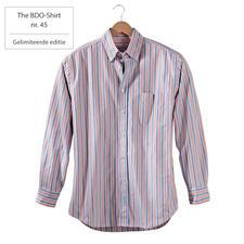 The BDO-Shirt nr.45, gestreept - Ontdek een goede oude vriend. En vergeet dat een overhemd moet worden gestreken.