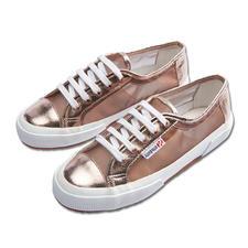 Superga® sneakers van metallic-mesh - Het summum van Italiaanse nonchalance: de Superga® 2750. Dit seizoen extra trendy van metallic-mesh.
