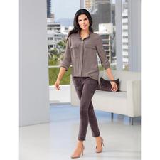 Arma lamssuèdeleren jogging-broek - Casual en elegant in precies de juiste verhouding. De 'jogging-broek' van luxueus suèdeleer.