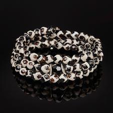 langani armband van Tibet-agaat - Armband van edelstenen van zeldzaam Tibet-agaat: elke kraal is uniek.