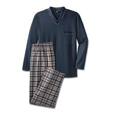 Fijne pyjama, lang No. 4 - Uw favoriete pyjama. Puur katoen, perfect verwerkt. Als lange versie voor het koudere jaargetijde.