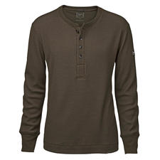 super.natural henleyshirt - Warmer, zachter en interessanter dan de meeste exemplaren: het henleyshirt van super.natural.
